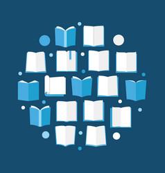 books creative circular - book vector image vector image