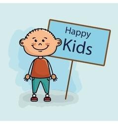 boy kids happy poster vector image