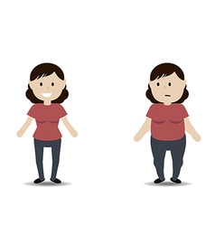 Fat and thin woman vector image