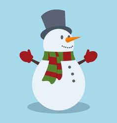 Snowman Christmas design vector image