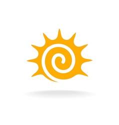 Sun spiral logo vector image