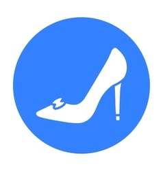 Bride s shoes icon of for web vector image vector image