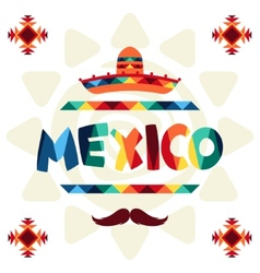Ethnic mexican background design in native style vector image vector image