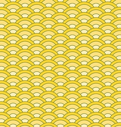 Japanese waves seamless pattern vector image vector image