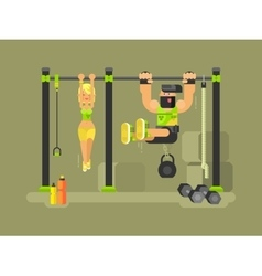 Man and woman fitness vector image
