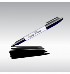 marker drawing vector image vector image