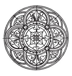 medieval circular panel is found on a vector image vector image