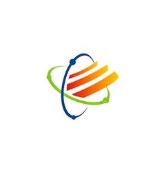orbit technology science logo vector image