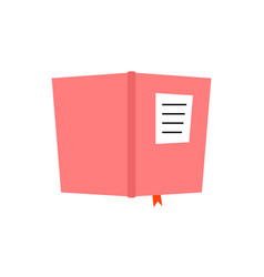 pink book diary icon vector image vector image