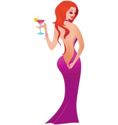 sexy female model vector image