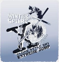 ski jump winter sport vector image vector image