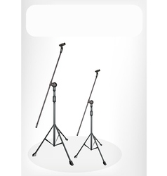 Two Microphone Stand Banner vector image vector image