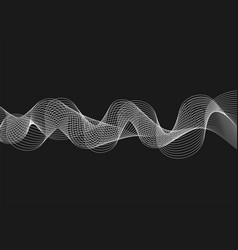 abstract with waves on dark background futuristic vector image