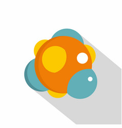 Group of atoms forming molecule icon flat style vector
