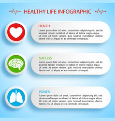 healthy life infographics vector image