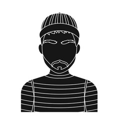 prisoner in the prison robe the offender is vector image