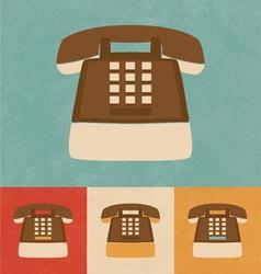 Retro Phone Icon vector image vector image