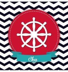 rudder icon Sea lifestyle design graphic vector image
