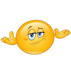 who cares emoticon vector image vector image