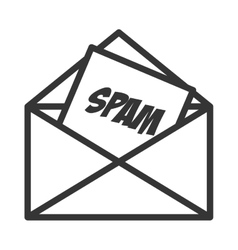 Email spam message online isolated vector