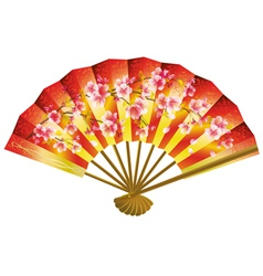 Japanese fan over white vector image vector image