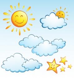 summer weather vector image vector image