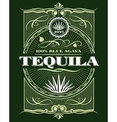 Vintage alcohol tequila drink bottle label vector image