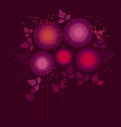abstract asters color vector image