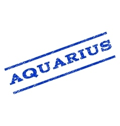Aquarius Watermark Stamp vector