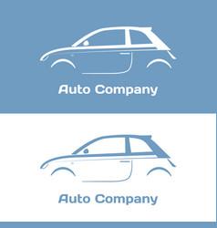 Auto company logo design concept vector