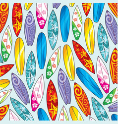 background pattern with surfboards vector image