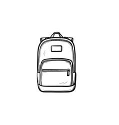 Backpack hand drawn sketch icon vector