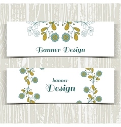 Banners With Blue Flowers vector