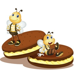 Bee biscuits vector image