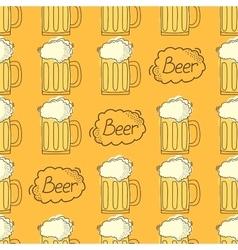 beer pattern Cartoon style vector image