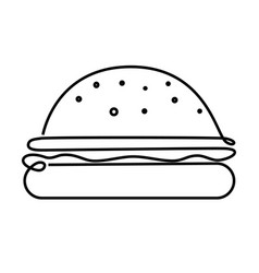 big burger concept vector image