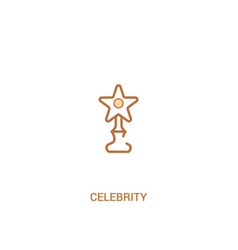 Celebrity concept 2 colored icon simple line vector
