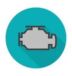 Check engine icon flat vector image