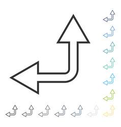 Choice arrow left up icon vector