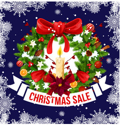 Christmas and new year holiday sale offer banner vector
