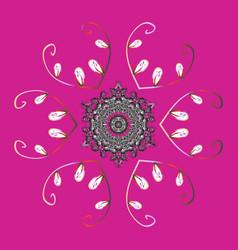 christmas snowflake of decoration on snow vector image