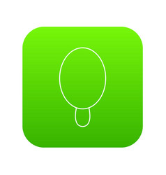 circle ice cream icon green vector image