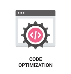 Code optimization icon vector