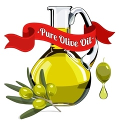 Colorful of olive oil 1 vector