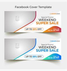 Colorful special offer facebook cover design vector