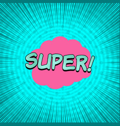 comic turquoise explosive template vector image