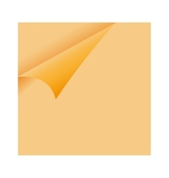 Curled Orange Paper Corner - sticky note vector