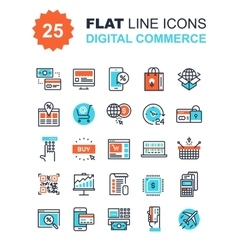 Digital Commerce Icons vector