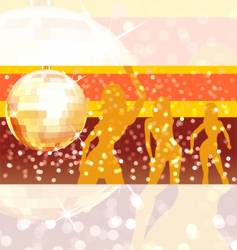 disco ball with pary background vector image