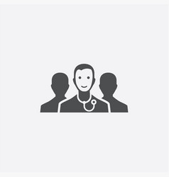 doctor team icon vector image